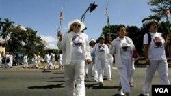 El Consejo de Seguridad Nacional de Estados Unidos criticó la detención de varias integrantes de las Damas de Blanco por parte del gobierno cubano.