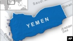 Peta wilayah Yaman