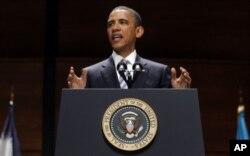 Le chef de l'exécutif américain s'est aussi exprimé sur le conflit israélo-palestinien