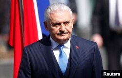 FILE - Turkish Prime Minister Binali Yildirim.