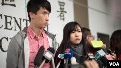 香港青年新政前立法會議員梁頌恆及游蕙禎。(照片由青年新政提供)