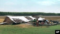 Kuća oštećena u snažnoj oluji u Misisipiju