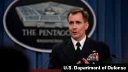 美国国防部发言人约翰•柯比(美国国防部网站)