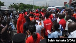Chibok girls 2nd year anniversary rally in Abuja, Nigeria April 14, 2016