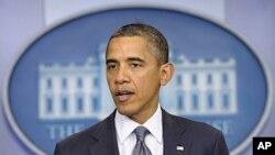 سهرۆکی ئهمهریکا براک ئۆباما له میانهی ڕاگهیاندنی بڕیاری کشانهوهی ههموو هێزهکانی وڵاتهکهی له عێراق ههتا کۆتایی ئهمسـاڵ، ههینی 21 ی دهی 2011