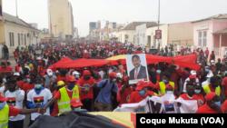 Marcha organizada pelo comité provincial do MPLA em apoio ao Presidente João Lourenço, em Luanda, 26 de Junho, 2021