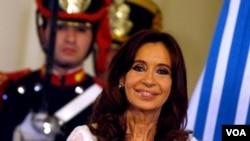阿根廷前总统费尔南德斯(资料照)