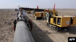 Укладка газопровода «Запад-Восток»