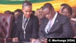Good old times ... Marry Chiwenga and Vice President Constantino Chiwenga.