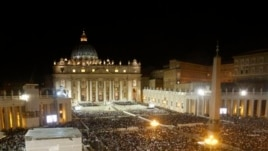 View of St. Peter's Square during vigil for Syrian peace attended by Pope Francis, at the Vatican, Sept. 7, 2013.