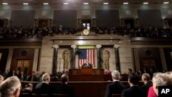 President Barack Obama gives his State of the Union address on Capitol Hill in Washington Feb. 12, 2013