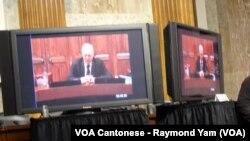 前任香港總督彭定康勳爵透過視頻出席CECC聽證會