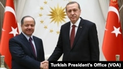 Mesut Barzani Ankara'da Cumhurbaşkanı Recep Tayyip Erdoğan tarafından kabul edildi