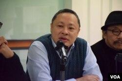 香港大學法律系副教授、公民聯合行動成員戴耀廷。(美國之音湯惠芸攝)