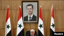 ولید المعلم وزیر خارجه سوریه روز شنبه در دمشق نشست خبری برگزار کرد