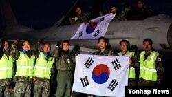 '레드플래그 알래스카 훈련'에 참가하는 한국 공군의 KF-16 전투기 6대가 24일 미국 알래스카 아일슨 공군기지에 도착했다. 한국 공군은 현지 적응훈련을 거쳐 오는 29일부터 본훈련에 돌입한다.