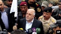 حیدالعبادی صدر اعظم عراق روز سه شنبه از رمادی دیدن کرد.