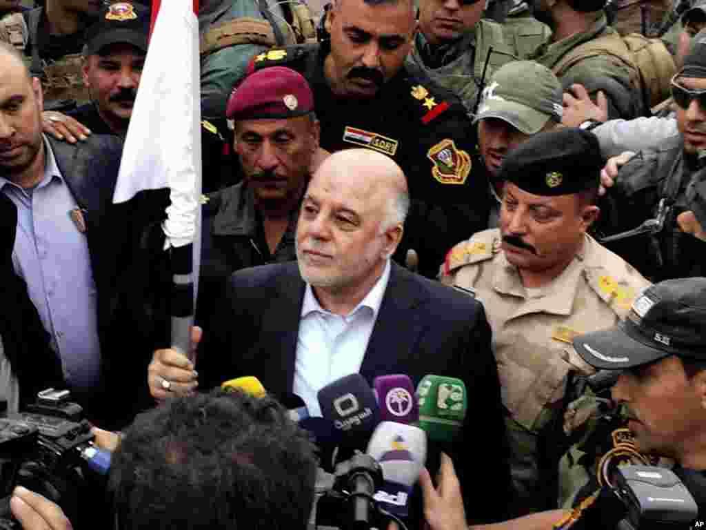 وزیراعظم العبادی نے عزم ظاہر کیا ہے کہ اب اگلا ہدف عراق کے دوسرے بڑے شہر موصل کا قبضہ حاصل کرنا ہے اور وہاں بھی سنیوں کی اکثریت ہے۔