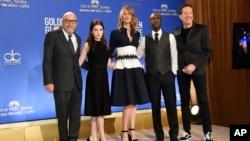 Pengumuman nominasi penghargaan film Golden Globe oleh Hollywood Foreign Press Assocation, hari Senin (12/12) di Los Angeles, California.
