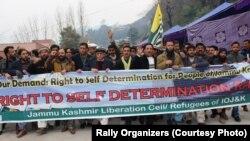 حق خودارادیت کے لیے مظفرآباد میں نکالی گئی ریلی اقوام متحدہ کے دفتر کی طرف مارچ کر رہی ہے۔ 5 جنوری 2020
