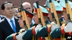 Chủ tịch Việt Nam Trần Đại Quang trong chuyến thăm Nga hồi cuối tháng Sáu.