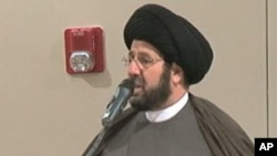 Imam Sayed Hassan Al-Qazwini at the Islamic Center of America in Dearborn, Michigan