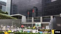 2019年6月23日的香港特區政府總部 (美國之音記者申華拍攝)