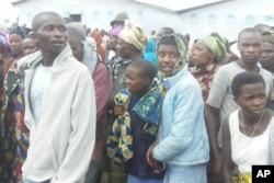 Réfugiés congolais au camp de Nkamira, au Rwanda (6 mai, 2012)