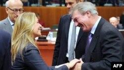 Ministri spoljnih poslova Španije i Luksemburga na početku redovnog skupa EU u Briselu