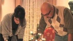 چند خانواده مسلمان ساکن آمريکا که به پيشواز کريسمس می روند
