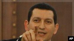 敘利亞外交部發言人馬迪薩星期一在大馬士革的一個記者會上