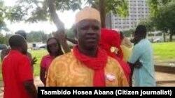 Shugaban al'ummar Chibok dake zaune a Abuja Mr.Tsambido Hosea Abana.