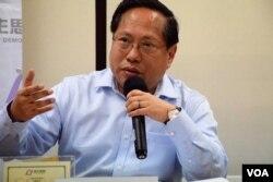 香港民主黨前主席何俊仁。(美國之音湯惠芸攝)