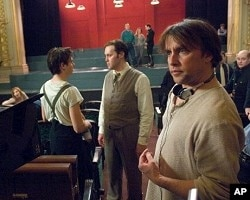 Director Richard Linklater on the set of the movie