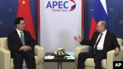 Ху Цзиньтао и Владимир Путин
