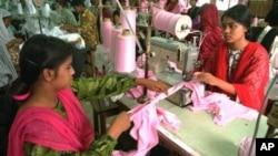 孟加拉國製衣工人。
