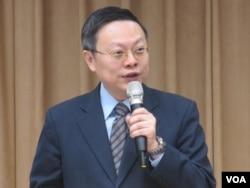 台湾前陆委会主委王郁琦(美国之音张永泰拍摄)