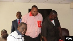 Morgan Tsvangirai seen with former MDC99 leader Job Sikhala