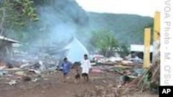 Samoans Get Aid, Struggle to Move On