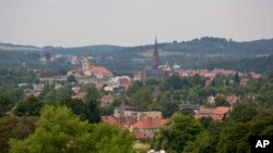 FILE - This Aug. 28, 2015, photo shows a general view of the city of Walbrzych, Poland, near which a Nazi gold train is believed to be hidden.