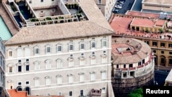 The two Italian journalists who published books last week detailing corruption and uncontrolled spending by the Vatican have been placed under investigation. The Vatican bank, previously called the institute for Works of Religion, is shown circa 2011.