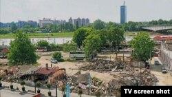 Arhiva - Mesto nelegalno porušenog objekta u beogradskoj Savamali