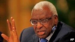 Lamine Diack, ancien président de la Fédération internationale d'athlétisme (IAAF)