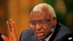 Lamine Diack, ancien du président de l'IAAF (Fédération internationale d'athlétisme), 21 août 2015.