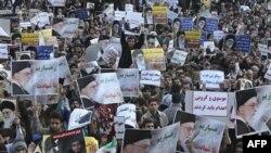 Những người Iran ủng hộ chính phủ biểu tình ở Tehran sau lễ cầu nguyên hôm thứ Sáu