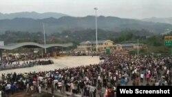 廣安市鄰水縣爆發爭取高鐵大規模遊行(網絡圖片)