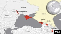 Russian interests in Transistria, Crimea, South Ossetia, Nagorno-Karabakh and Abkhazia