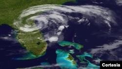 El Centro Nacional de Huracanes dijo que Beryl seguirá un rumbo continuo este-noroeste.(Foto:NOAA).