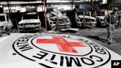 지난 29일 아프가니스탄 잘랄라바다의 적십자 건물 인근에서 벌어진 자살 폭탄 공격 현장.
