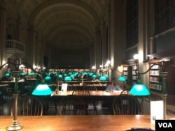 A study room in the BPL.